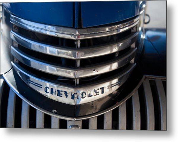 Chevy Grill Metal Print