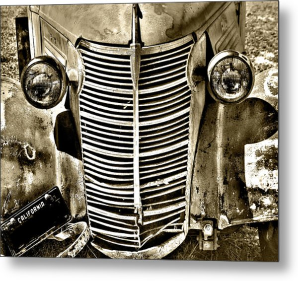 Chevy Grill Work Metal Print