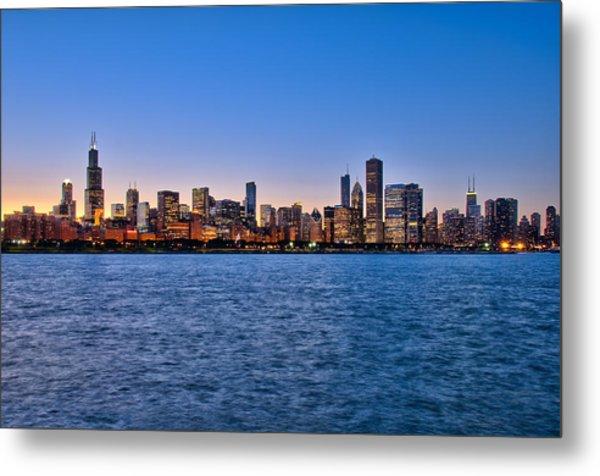 Chicago At Sunset Metal Print