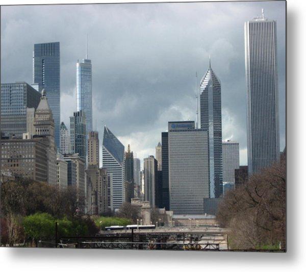 Chicago Skyline 1 Metal Print