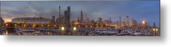 Chicago Skyline From Burnham Harbor Metal Print