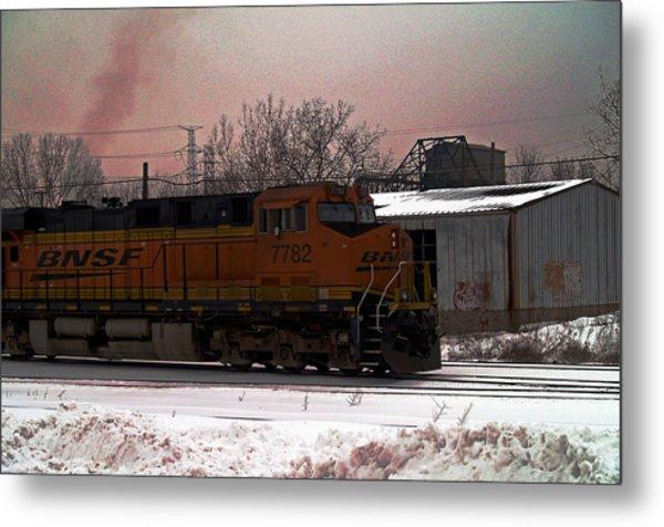 Chicago Train Metal Print