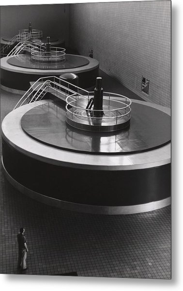 Chickamauga Dam Turbine Generators Metal Print by Everett
