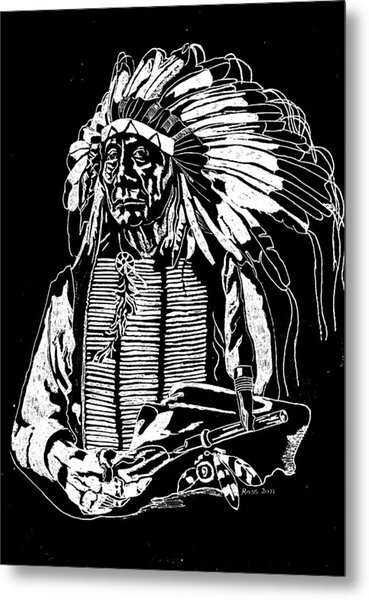 Chief Red Cloud 2 Metal Print by Jim Ross