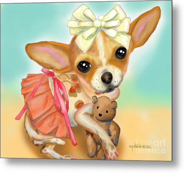 Chihuahua Princess Metal Print