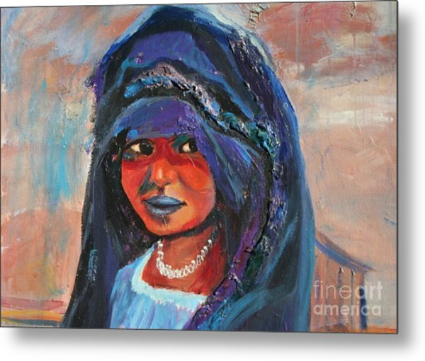 Child Bride Of The Sahara - Close Up Metal Print