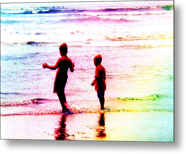 Childhood At The Beach Metal Print
