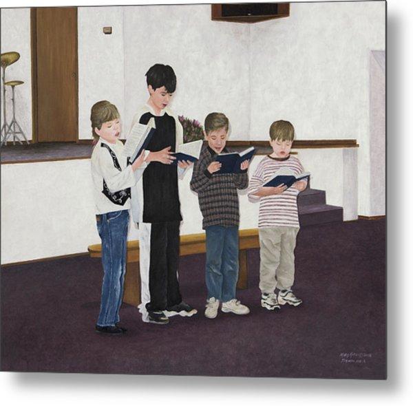 Children Sing Praise Metal Print