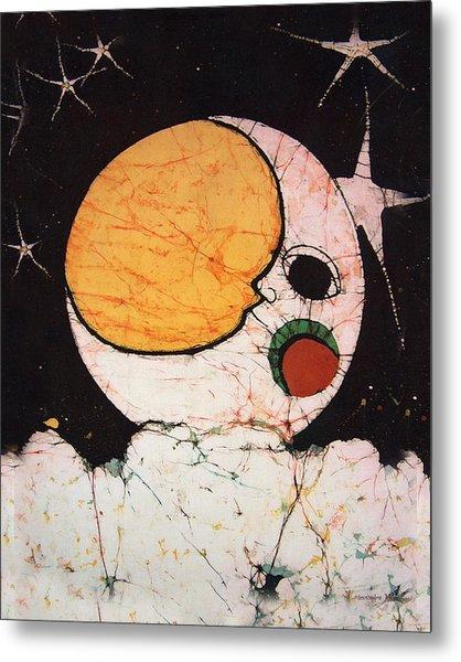 Children's Moon Metal Print by Alexandra  Sanders