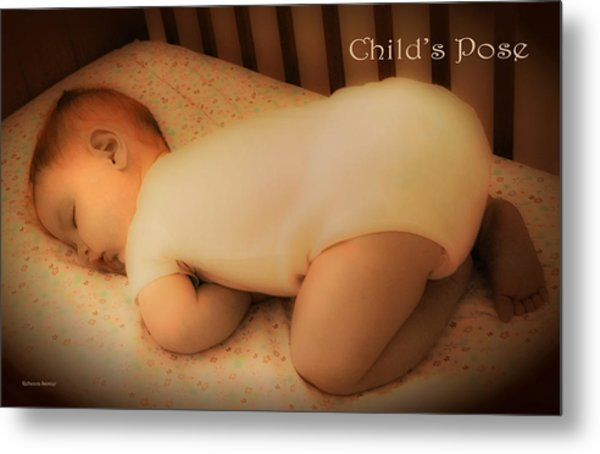 Child's Pose Metal Print