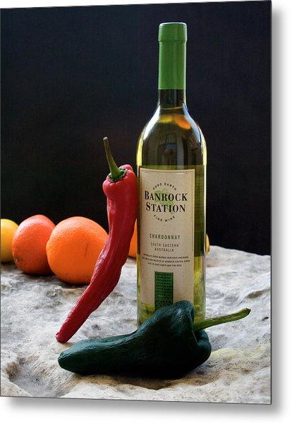 Chilis Wine And Citrus Metal Print