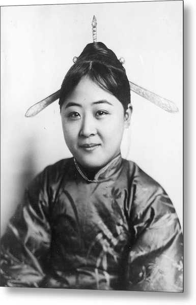 Chinese Girl Metal Print by General Photographic Agency