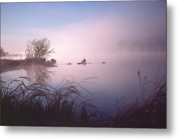 Chippewa River At Dawn Metal Print