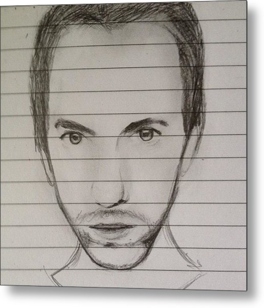 Chris Martin Sketch Metal Print