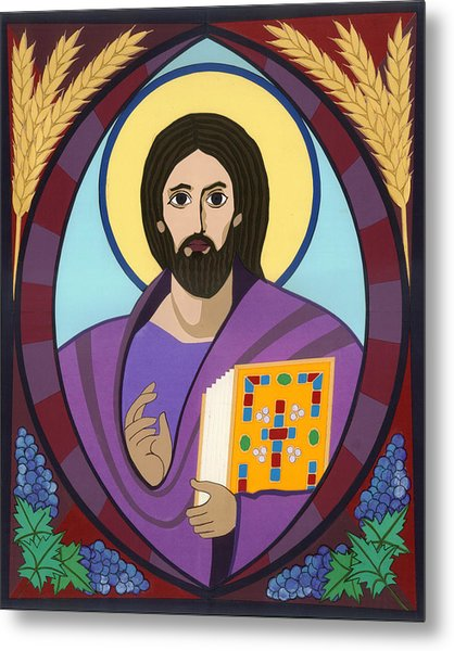 Christ Pantokrator Icon Metal Print by David Raber