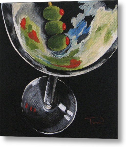 Christian's Martini Metal Print