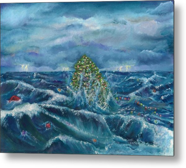christmas at the beach metal print by alayna borowy - Christmas At The Beach