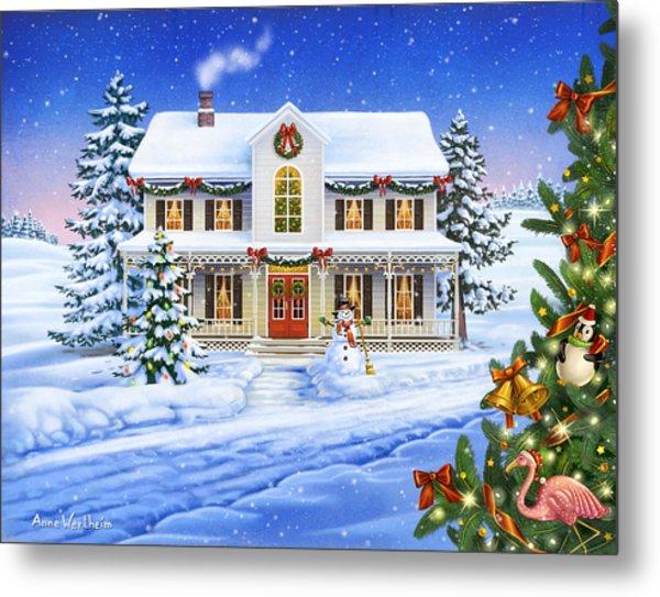 Christmas Cottage Metal Print