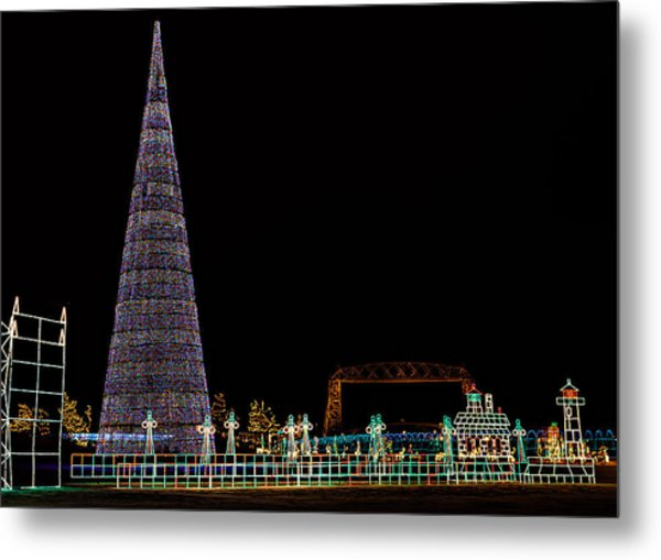 Christmas In Duluth Metal Print