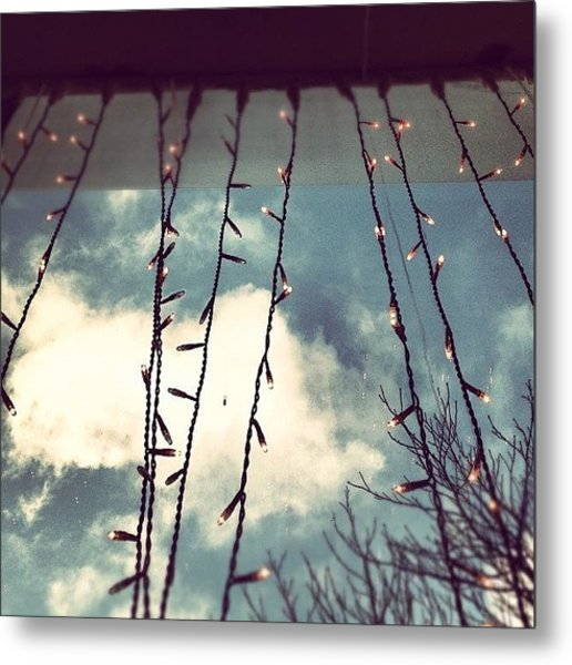 Christmas Lights During The Day #xmas Metal Print