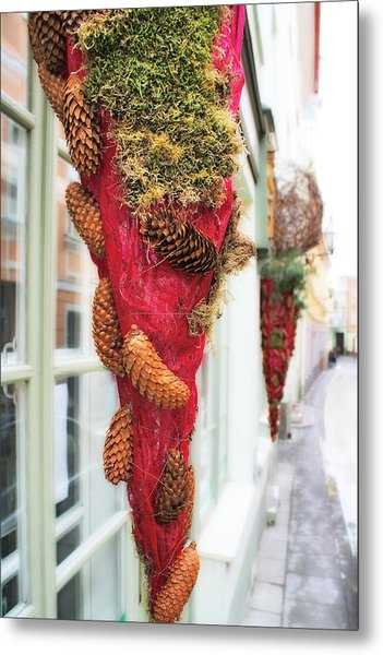 Christmas Ornaments In The Street Metal Print by Aleksandr Volkov