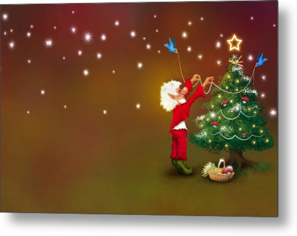 Christmas Pixie Metal Print