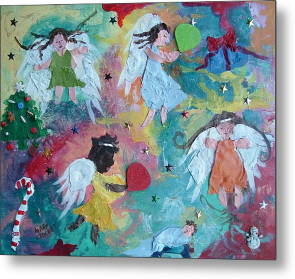 Christmas Surprise Metal Print by Mary Crochet