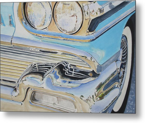 Chrome  Ode To An Olds Metal Print by Patrick DuMouchel