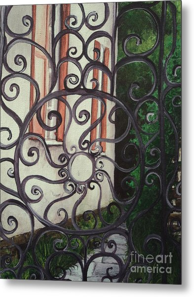 Chuch St. Iron Gate Metal Print by Osee Koger