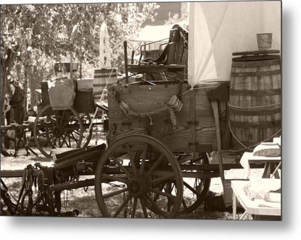 Chuckwagon Metal Print by Toni Hopper