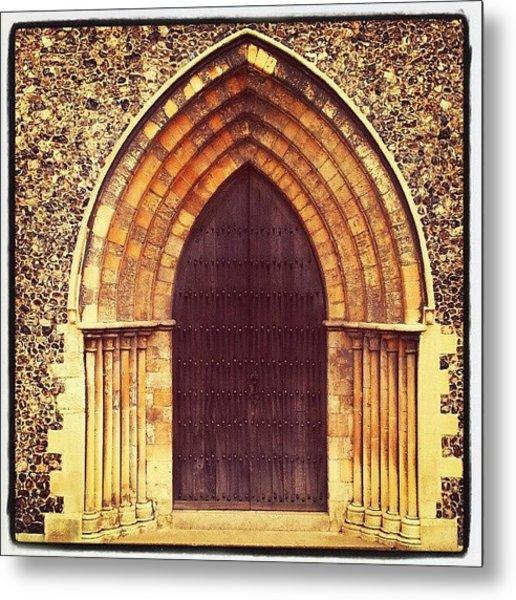 Church Door #church #door #yarmouth Metal Print