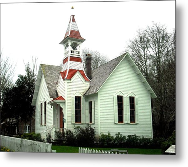 Church In Oysterville Metal Print