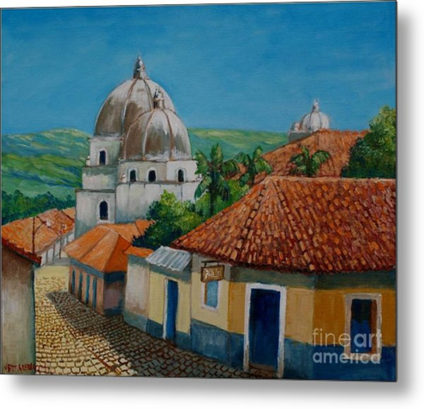 Church Of Pespire In Honduras Metal Print