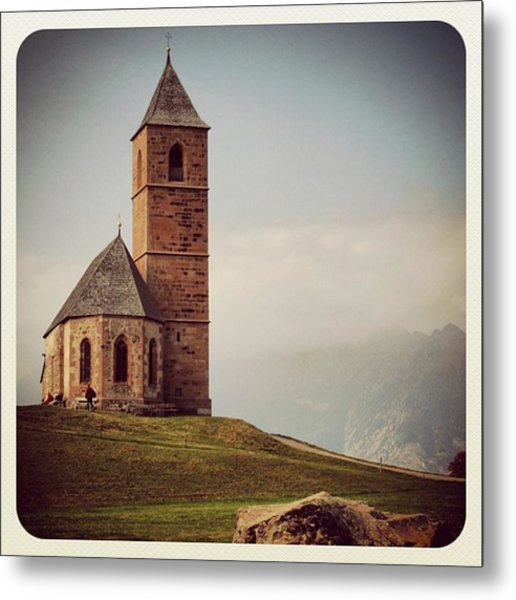 Church Of Santa Giustina - Alto Adige Metal Print