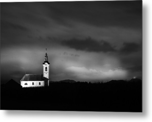 Church Shining Bright Metal Print