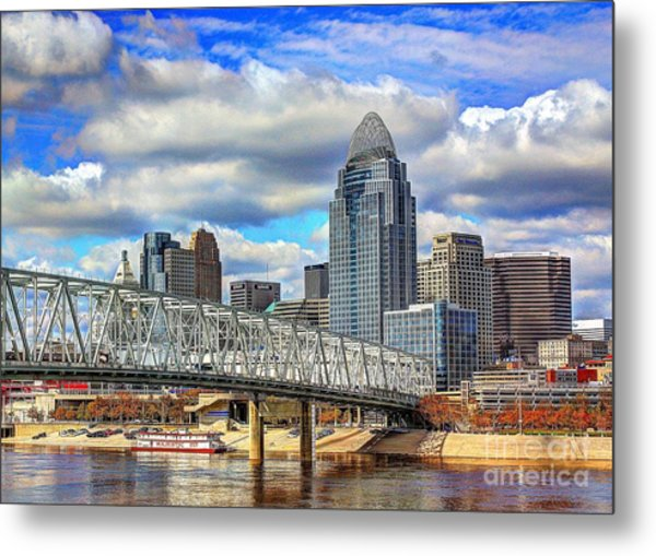 Cincinnati Skyline 2012 Metal Print