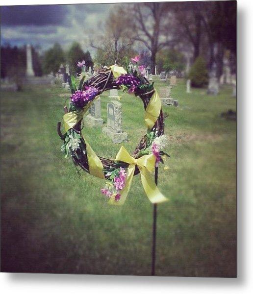 #circle #ribbon #flower #flowers #reef Metal Print