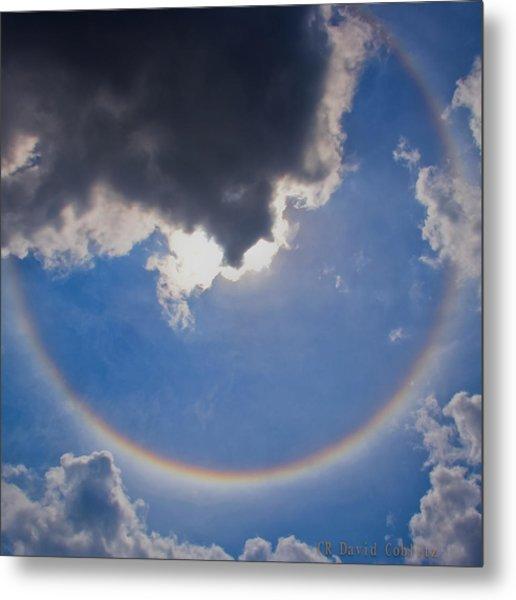 Circular Rainbow - Square Cropped Metal Print