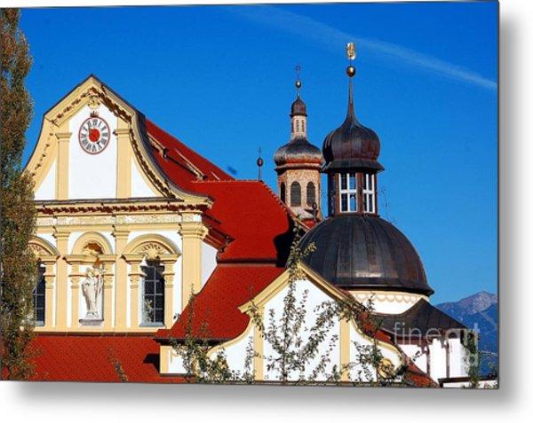 Cistercian's Basilica In Austrian Tyrol Metal Print