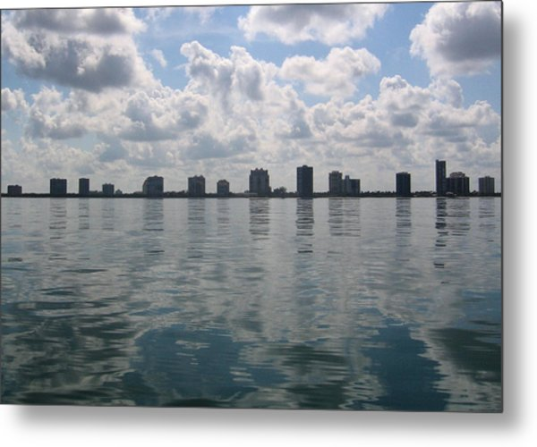 City By The Sea Metal Print