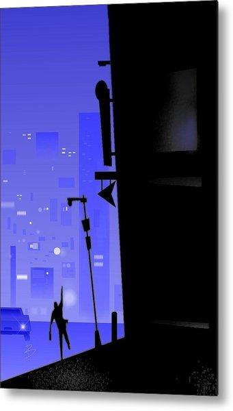'city Corner' Metal Print by Bryan  Rhoads