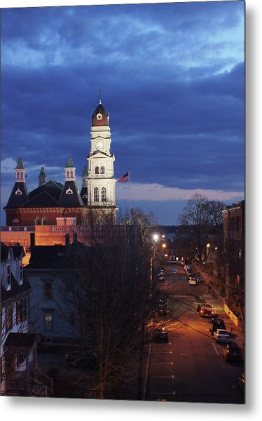 City Hall At Dusk Metal Print by Matthew Green