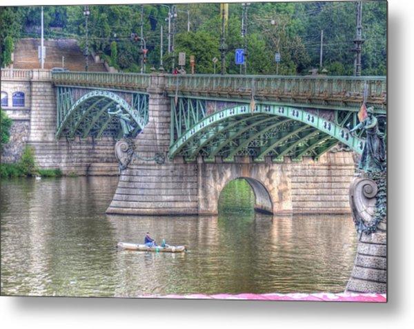 City Of Bridges Metal Print by Barry R Jones Jr