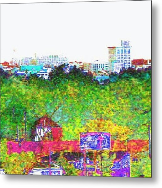 City On The Horizon #abstract #android Metal Print