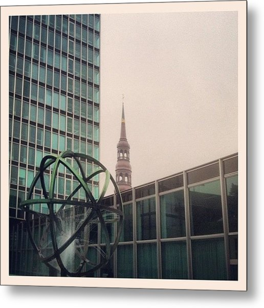 City-scenery #hamburg #city Metal Print