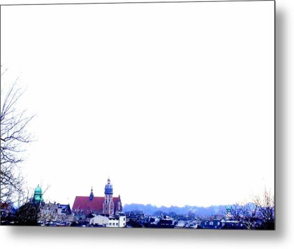 City Snowscape Metal Print by Lee Versluis