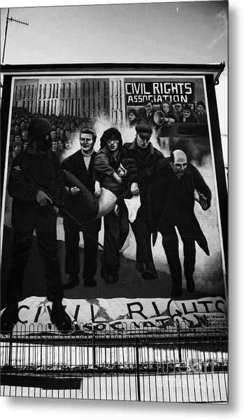 Civil Rights Bloody Sunday Mural Derry Metal Print