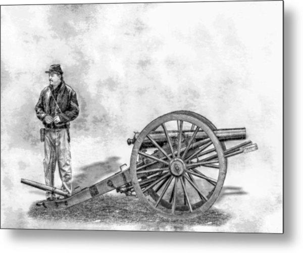 Civil War Union Artillery Corporal With Cannon Sketch