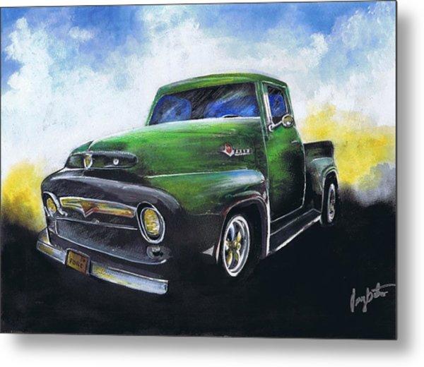 Classic 56 Ford Truck Metal Print