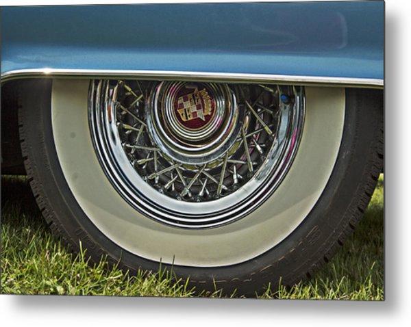 Classic Cadillac Wheel Metal Print